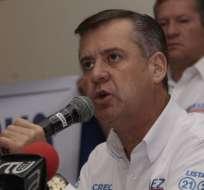 """QUITO, Ecuador.- El exvicepresidenciable presentó ante el organismo de control electoral un """"recurso extraordinario de nulidad"""". Foto: API"""