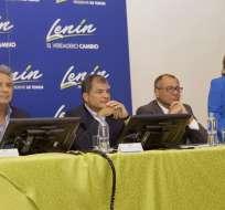 Entre otras figuras, participa el presidente Correa y el mandatario electo, Lenín Moreno. Foto: Archivo / API