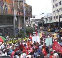 ECUADOR.- La marcha progobierno, organizada por la CUT, se realizará en Manabí; ambos grupos pedirán reformas laborales. Foto: Archivo