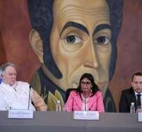 VENEZUELA.- La canciller Delcy Rodríguez anunció ayer el retiro definitivo de su país de la Organización de Estados Americanos. Foto: Cancillería de Venezuela
