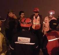 CHUNCHI, Ecuador.- El deslave provocó la evacuación de los moradores de esta zona de Chimborazo. Foto: Twitter Riesgos Ecuador.