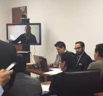 Bravo, quien participó en la diligencia a través de videoconferencia, aceptó haber realizado las transferencias. Foto:Ecuavisa