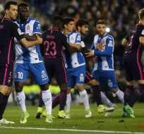 El ecuatoriano Felipe Caicedo fue titular con el Espanyol en el derbi ante el FC Barcelona.