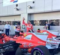 El piloto alemán de la escudería Ferrari, Sebastian Vettel, logró su primera 'pole' desde septiembre de 2015.