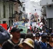 Varios gremios rechazaron las políticas gubernamentales; otros respaldaron al actual régimen. Fotos: API