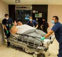 El hombre, de 32 años, llegó a pesar casi 600 kilos; será operado el martes. Foto: AFP