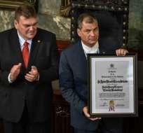 LA HABANA, Cuba.- El primer mandatario recibió este 5 de mayo de 2017 su XV Doctorado Honoris Causa. Foto: AFP