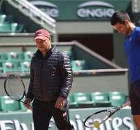 Marian Vajda (izq.) trabajó con Novak Djokovic por aproximadamente 11 años.