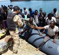 Más de 6.000 migrantes fueron rescatados frente a las costas de Libia. Foto: AFP