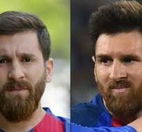 A la izquierda, Reza Parastesh. A la derecha, Lionel Messi. ¿O acaso es al revés?