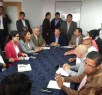 QUITO, Ecuador.- Esta agrupación aspira a una vocalía en el Consejo de Administración de la Asamblea. Fotos: Edwin Robalino / Ecuavisa