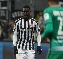 El ecuatoriano Andersson Ordóñez juega desde este año en el Eintracht Frankfurt alemán.