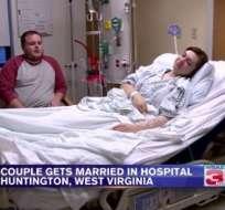 Kaitlin Adkins sufre de diabetes y el día de su boda tuvo un incidente médico. Foto: Tomada de cadena WSAZ.