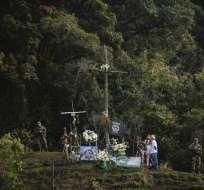 Los sobrevivientes de la tragedia aérea del Chapecoense estuvieron en el lugar del siniestro.