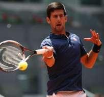 El serbio Novak Djokovic debuta con una sufrida victoria en el torneo de Madrid.