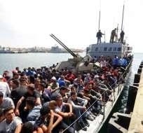 La operación del miércoles tuvo lugar a 19 millas marinas frente a Sabratha. Foto: AFP
