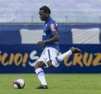 Luis 'Kunty' Caicedo jugó con Cruzeiro pero su equipo quedó eliminado de la Sudamericana.