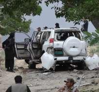 El ataque iba dirigido contra un convoy donde viajaba el vicepresidente del Senado. Foto: AFP