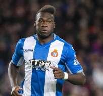 El ecuatoriano Felipe Caicedo jugó aproximadamente media hora en la derrota del Espanyol.