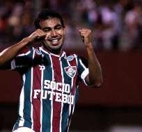 Junior Sornoza marcó en la victoria del Fluminense sobre el Santos por el Brasileirao.