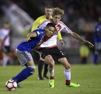 Marcos Mondaini sería titular en el próximo partido de Emelec en la Copa Libertadores. Foto: AFP