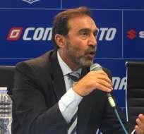 El presidente de Emelec, Nassib Neme, habló de la victoria del equipo en condición de visitante.