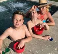 Jayden y Sean, de 10 y 11 años, son los hijos de la cantante. Foto: Instagram Britney Spears