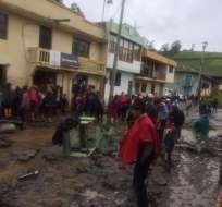 500 familias viven en el centro de la parroquia Julio Moreno. Foto: GADC Guaranda.
