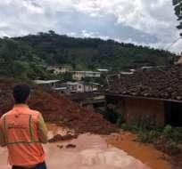 En la parroquia San José del cantón Atahualpa viven 230 personas. Foto: Twitter Riesgos Ecuador.