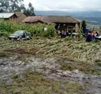 GUARANDA, Ecuador.- La víctima mortal más reciente se registró en la provincia de Bolívar tras un deslizamiento a consecuencia de las lluvias. Foto: Twitter usuario Víctor Ramírez