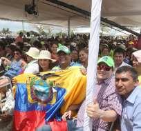 El sábado pasado el enlace número 522 y el penúltimo de la era Correa fue realizado desde Jaramijó en Manabí. Foto: Flikr Presidencia