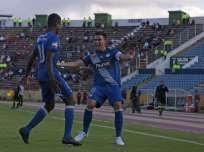 Emelec venció a El Nacional por 2-0 en el estadio Olímpico Atahualpa. Foto: API
