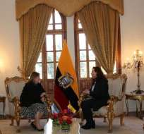 QUITO, Ecuador.- María Fernanda Espinosa se reunió con sus pares de Argentina (foto), Uruguay y Colombia. Foto: Twitter Cancillería de Ecuador