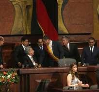 QUITO, Ecuador.- Unos 1.600 invitados, entre ellos 11 mandatarios, se congregan para la posesión de Moreno. Foto: API