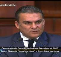 José Serrano, titular de la Asamblea, aseguró que Moreno recibe un país institucionalizado. Foto: Tw de Asamblea