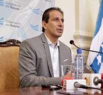 Cevallos, nuevo Gobernador del Guayas, dijo que su trabajo se enfocará en erradicar el microtráfico. Foto: TW de Gobernación