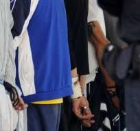 REPÚBLICA DOMINICANA.- Los detenidos permanecen en la cárcel del Palacio de Justicia de Ciudad Nueva, en la capital, mientras son presentados ante un juez. Foto referencial de Internet