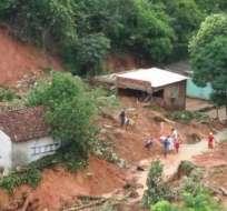 BRASIL.- Al menos 30.000 habitantes de Pernambuco tuvieron que abandonar sus casas en los últimos días. Foto: AFP