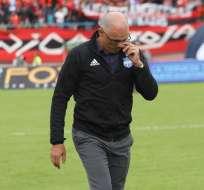 Alfredo Arias no quiso hablar de la polémica arbitral del partido ante Deportivo Cuenca. Foto: API