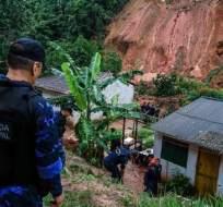 BRASIL.- Las fuertes lluvias provocaron inundaciones, deslizamientos de terreno y caídas de árboles. Foto: AFP