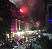 La emergencia se registró en el World Resorts Manila en Filipinas. Foto: AP