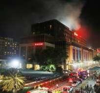 Los agentes consideran que estaba intentando robar el casino de Resorts World Manila. Foto: AP
