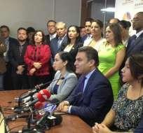 José Serrano, presidente de la Asamblea, adelantó que hoy se entregarán resoluciones de AP sobre la corrupción. Foto: Twitter Asamblea Nacional