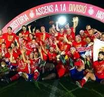 El Girona de Cataluña asciende por primera vez en 87 años a la máxima división de La Liga española.