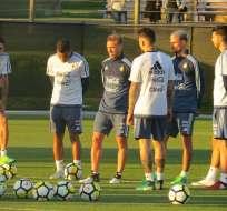 El combinado argentino entrena en Melbourne, Australia, previo al amistoso con Brasil.