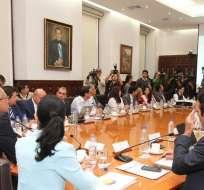 Piden al régimen, entre otros puntos, eliminar el anticipo del Impuesto a la Renta. Foto: Twitter Vicepresidencia