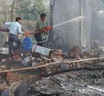 De los 10 heridos, 5 sucumbieron a sus heridas y tres siguen entre la vida y la muerte. Foto: AP