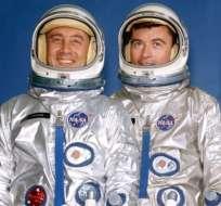"""Virgil Ivan """"Gus"""" Grissom (izquierda) y John Young, fueron los protagonistas de la primera misión tripulada del programa Gemini. Foto: NASA"""