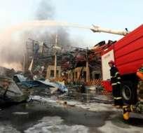 CHINA.- La explosión se produjo al caer la tarde cerca de la entrada de la escuela infantil cuando los niños salían del centro. Foto: Twitter
