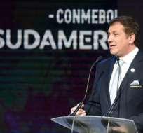 Alejandro Domínguez comandó la reunión entre Conmebol y clubes que participan en la Copa Libertadores. Foto: AFP